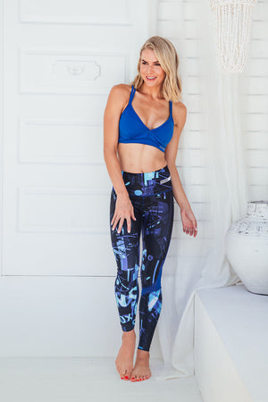 Blue Genie - High waist tights - Front facing