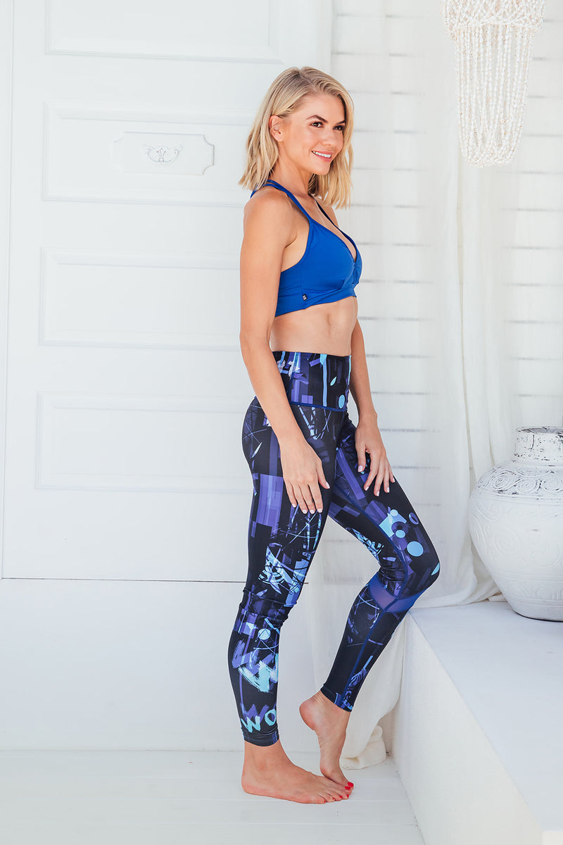 Blue Genie - High waist tights - Macaw Activewear