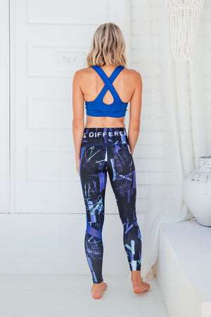 Blue Genie - High waist tights - Back facing