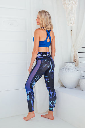 Blue Genie - High waist tights - Side facing