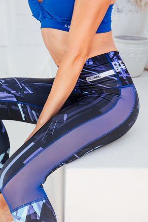 Blue Genie - High waist tights - Close up mesh