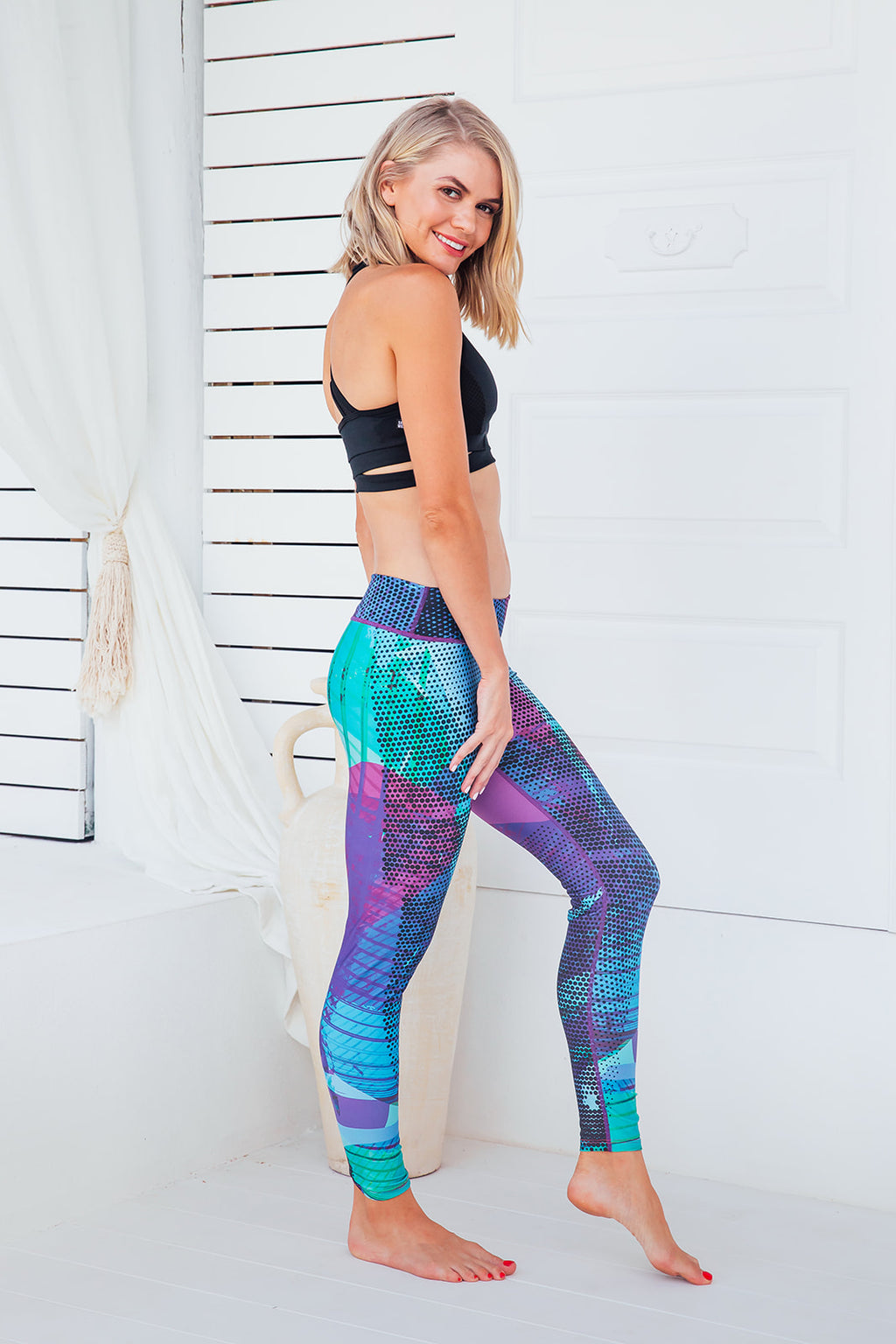 Purple Heaven - Standard waist tights - Macaw Activewear