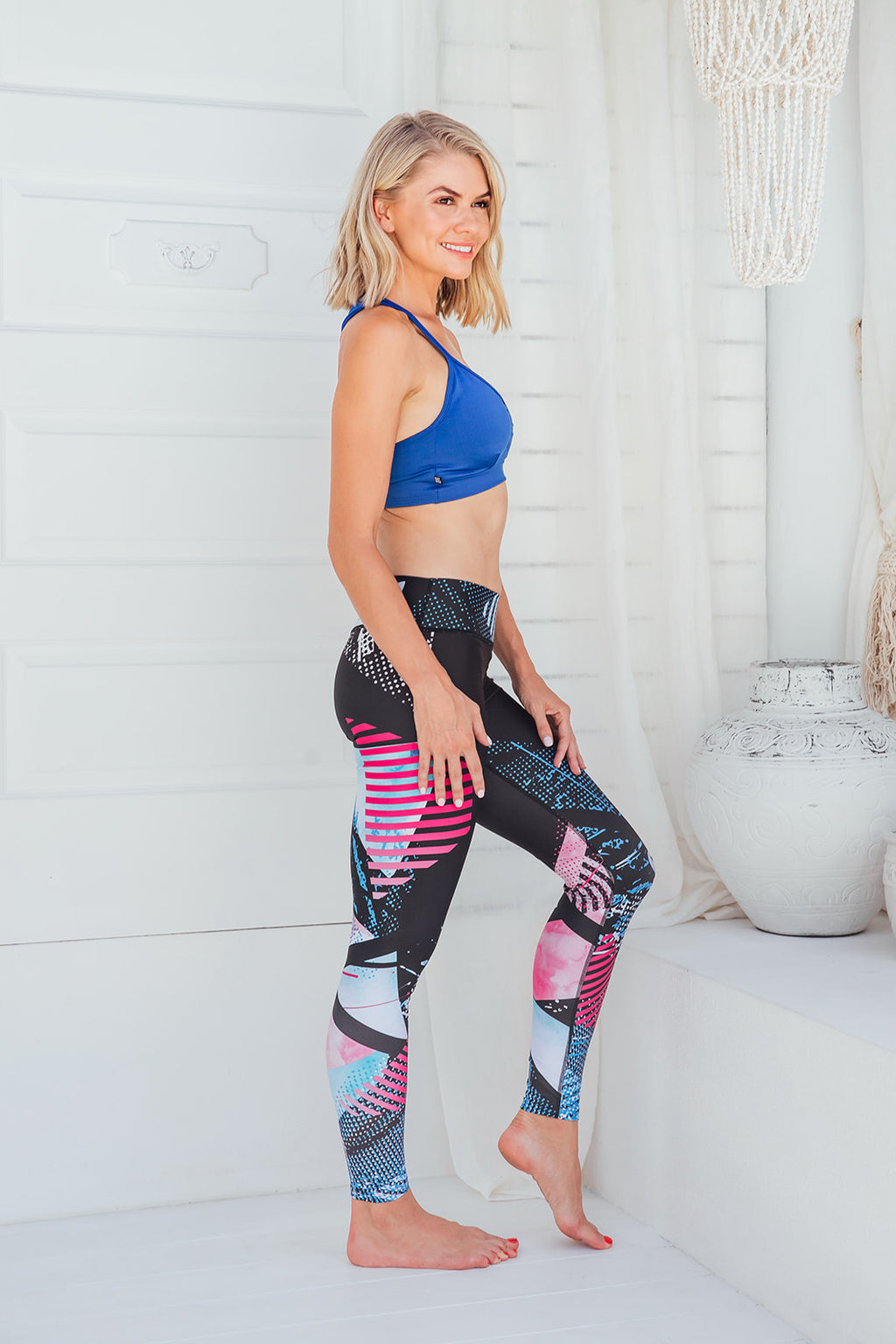 Midnight Rave - Standard waist tights - Macaw Activewear