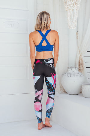 Midnight Rave - Standard waist tights - Back facing