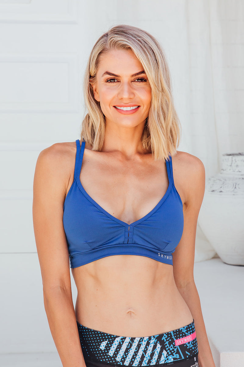 Intense Blue - Sports bra - Front facing