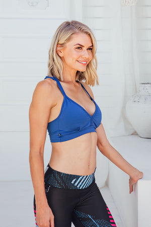 Intense Blue - Sports bra - Side facing