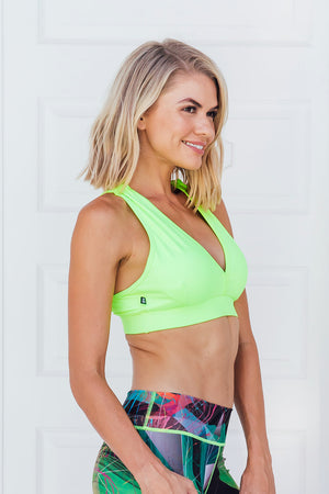 Vibrant Lime - Sports bra - Side facing