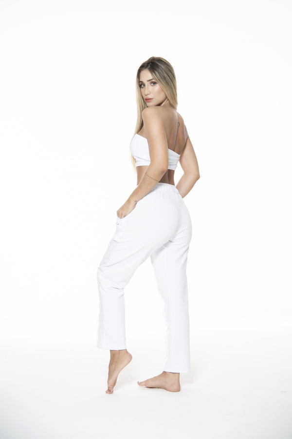 Pure White Jogger - Macaw Activewear