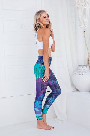 Purple Heaven - High waist tights - Macaw Activewear