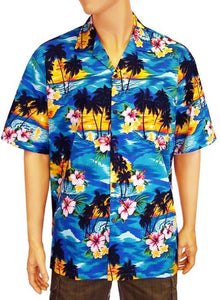 Men Hawaii Island Sunset Shirt