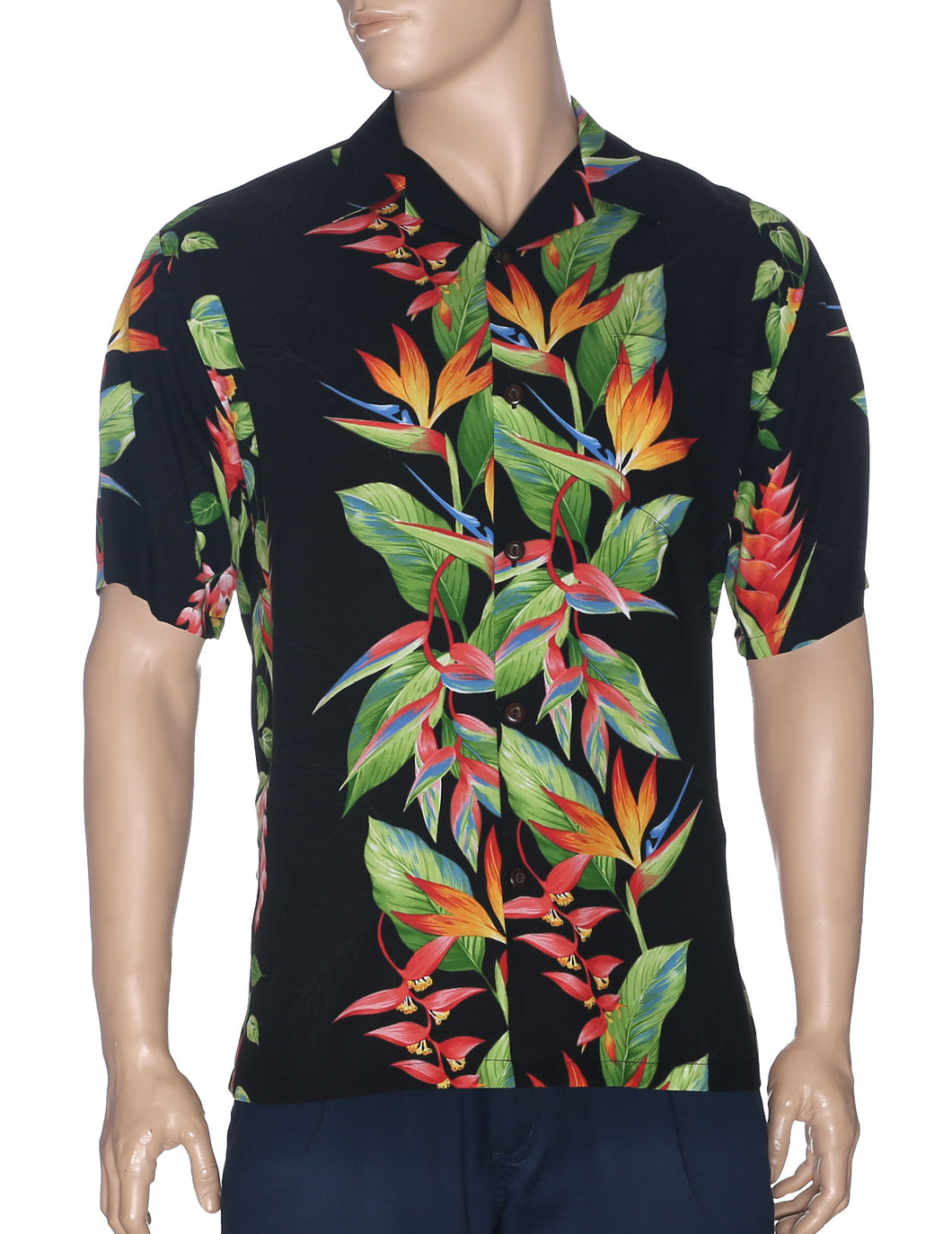 Hawaiian Shirt Birds of Paradise Panel