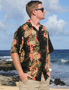 Pineapple Panel Hawaiian Shirt