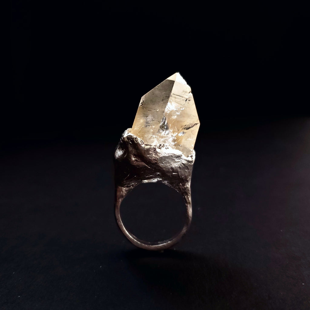 Big Crystal Unique Statement ring
