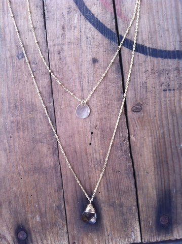 Layer necklace for the bride or bridesmaids