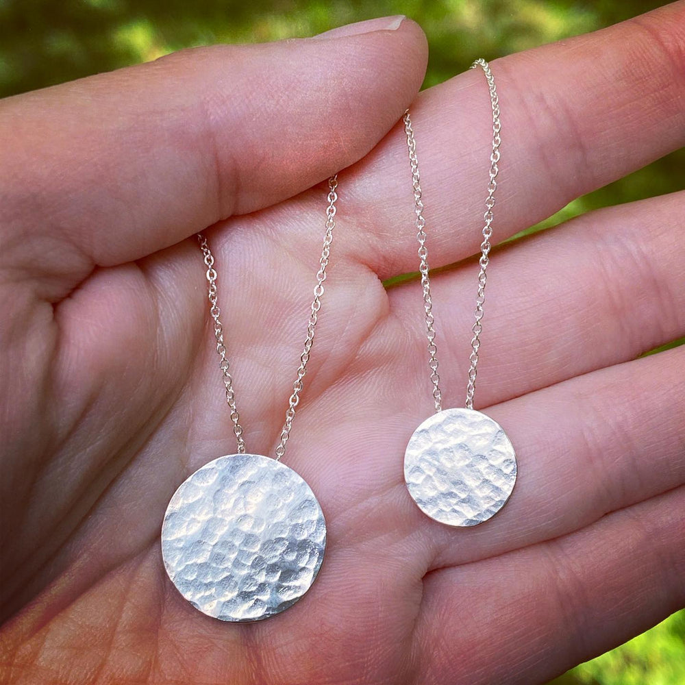 Moon Illusion Necklaces in Illuminated