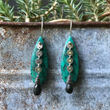Bare Chrysocholla Earrings