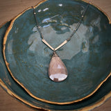 NEW Basin Necklace with Chocolate Moonstone