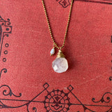 NEW Cluster Necklace in Moonstone & Freshwater Pearl