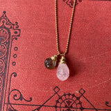 NEW Cluster Necklace in Morganite & Andalusite