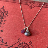 NEW Cluster Necklace in Pink Sapphire & Chocolate Moonstone