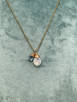 NEW Cluster Necklace in Moonstone & Kyanite