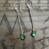Green Labradorite Earrings