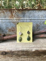 NEW Fiddlehead Earrings with Green Labradorite