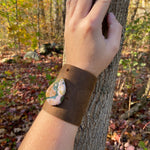 New Jasper & Leather  Cuff