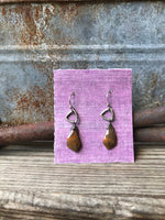Trillium Drop Earrings with Yellow Jasper