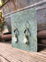 Triad Earrings with Moonstone