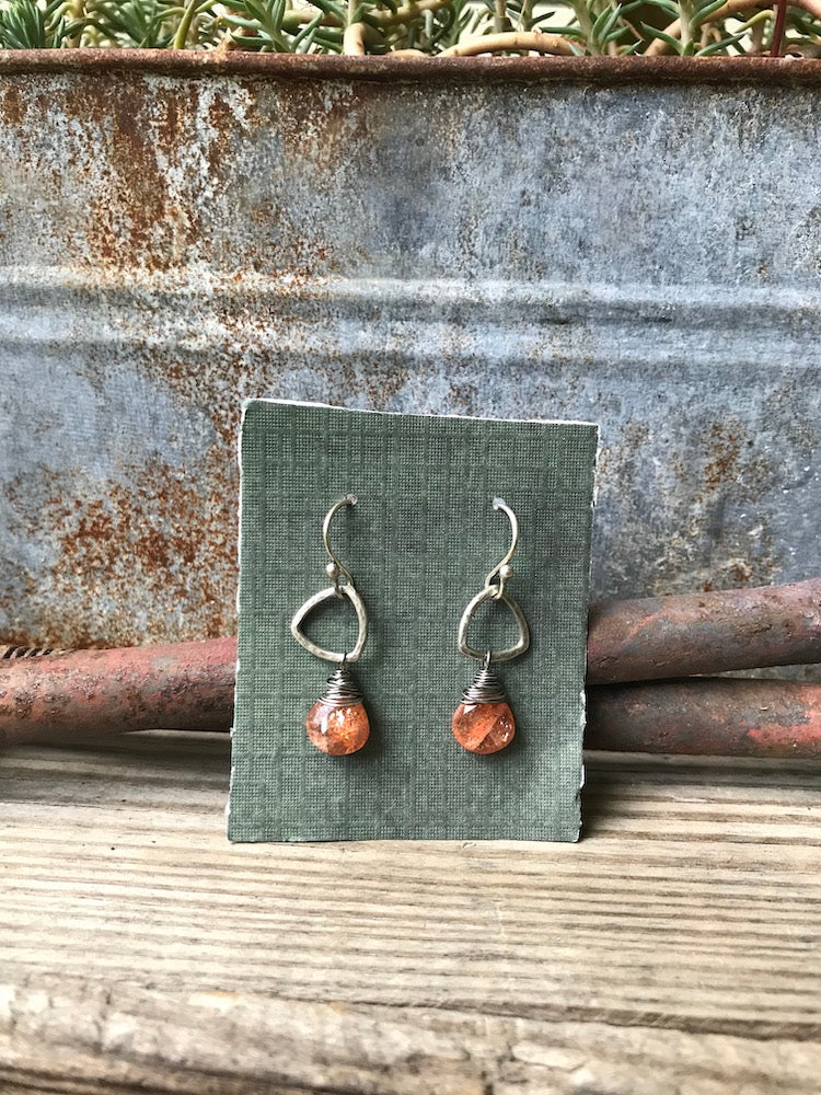 NEW Triad Drop Earrings with Sunstone