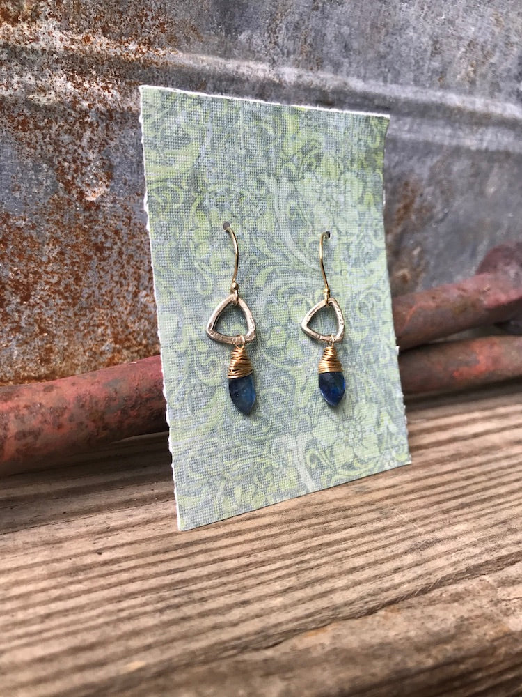 NEW Trillium Drop Earring with Kyanite