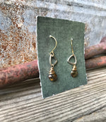 Trillium Drop Earrings with Andalusite
