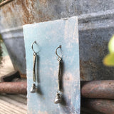 Sticks & Stones Earrings with Labradorite