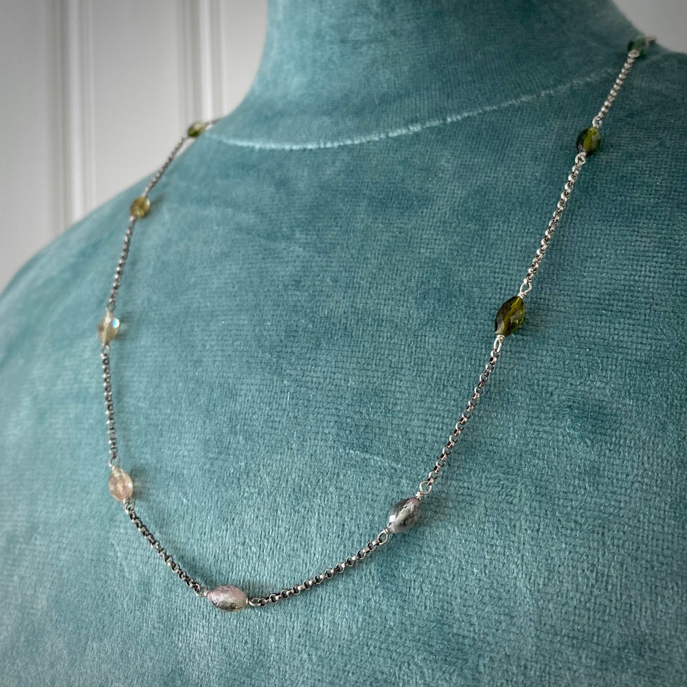 NEW Watermelon Tourmaline Necklace