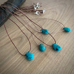 NEW Turquoise & Linen Necklaces