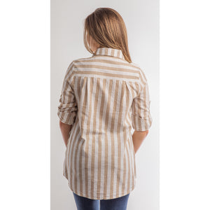 Step Into Spring Tunic  (Blue or Taupe)