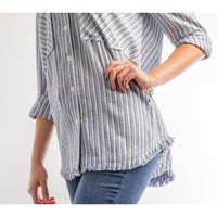 Denim Friendly Fringe Top