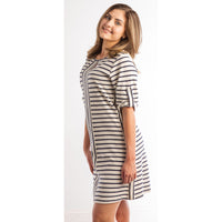 Straight to The Sun Navy & Ivory Dress