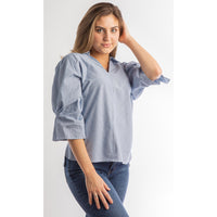 Blue Posy Top