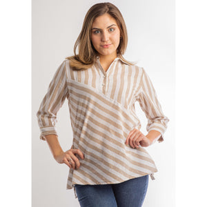 Austin Striped Tunic (Blue or Taupe)