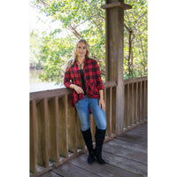 Red Plaid Hi-Low Tunic