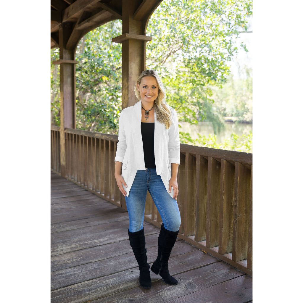 White French Knit Cardigan