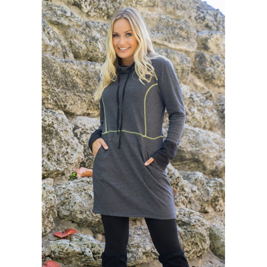 Dark Heather grey Sweatshirt Dress