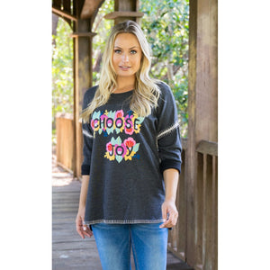 Choose Joy Embroidered Sweater