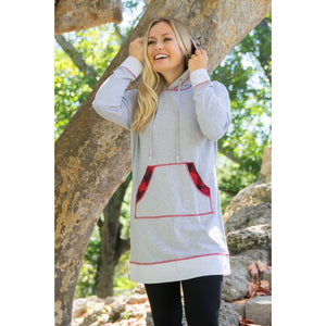 Light Grey & Buffalo drawstring tunic