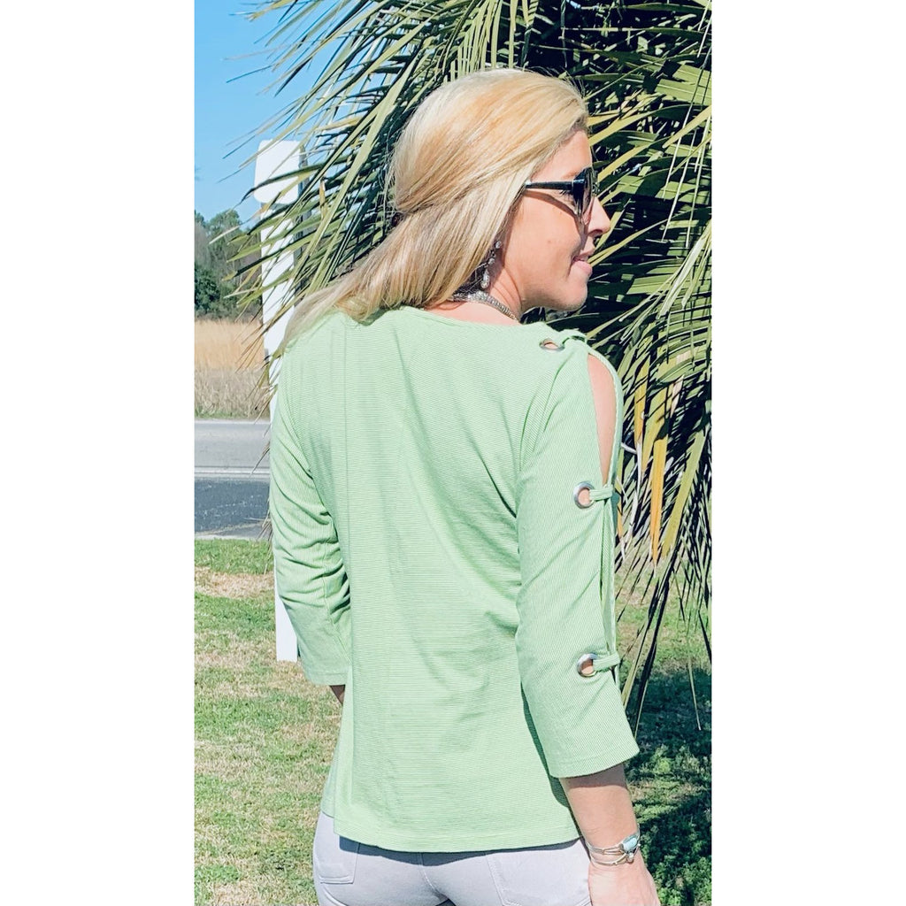 Open Sleeve Pullover top