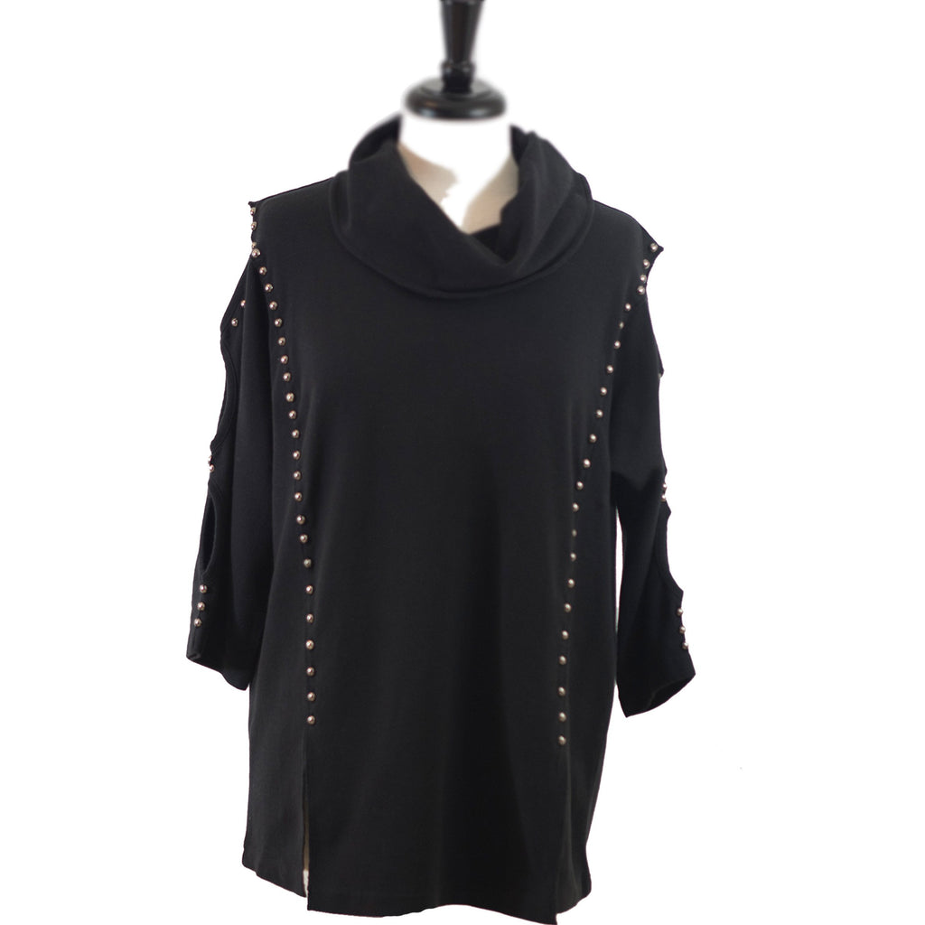 Cozy Chic tunic Black
