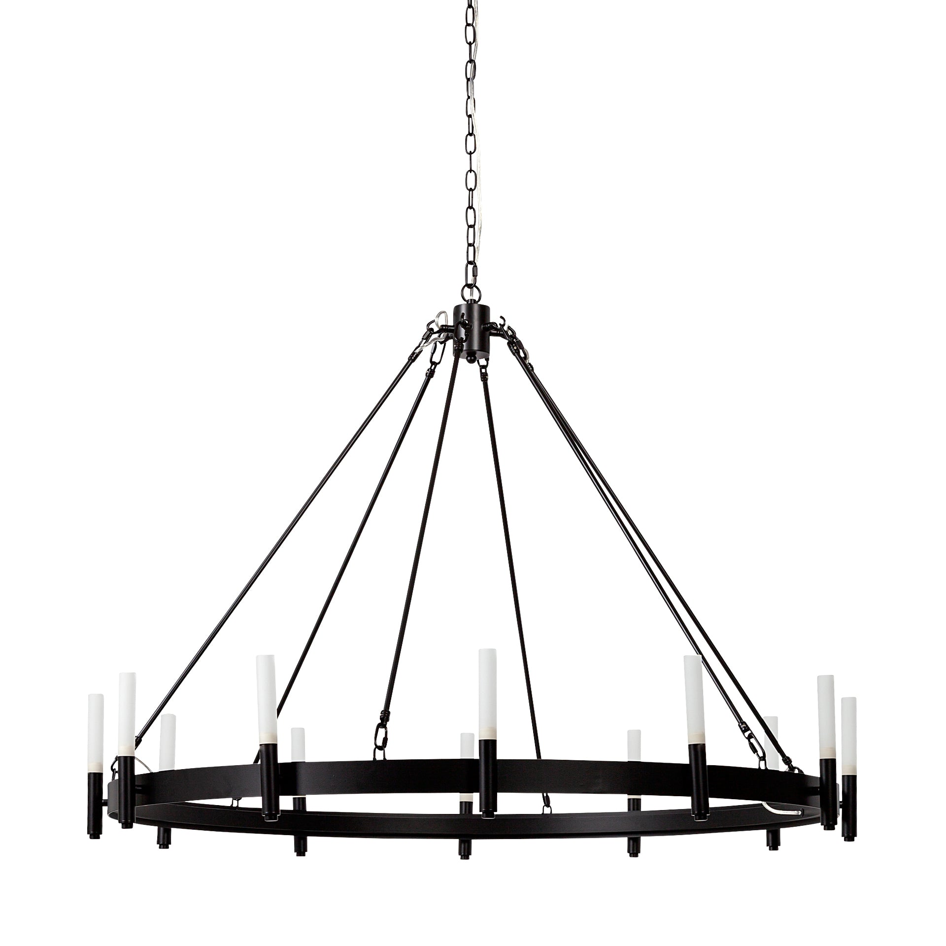 Chassis Black Chandelier