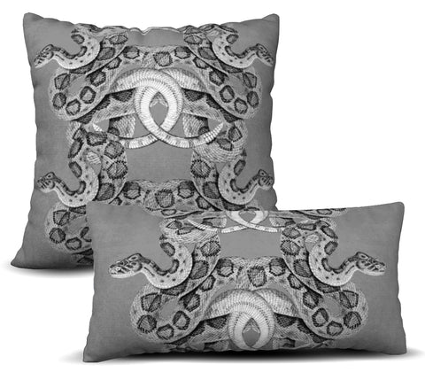 Scaled - Grey Pillow Cover